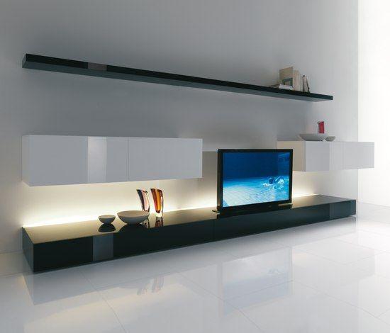Imagens De Moveis Para Sala De Tv ~  tv iluminação indireta painel tv mezanino alvenaria ideias sala de
