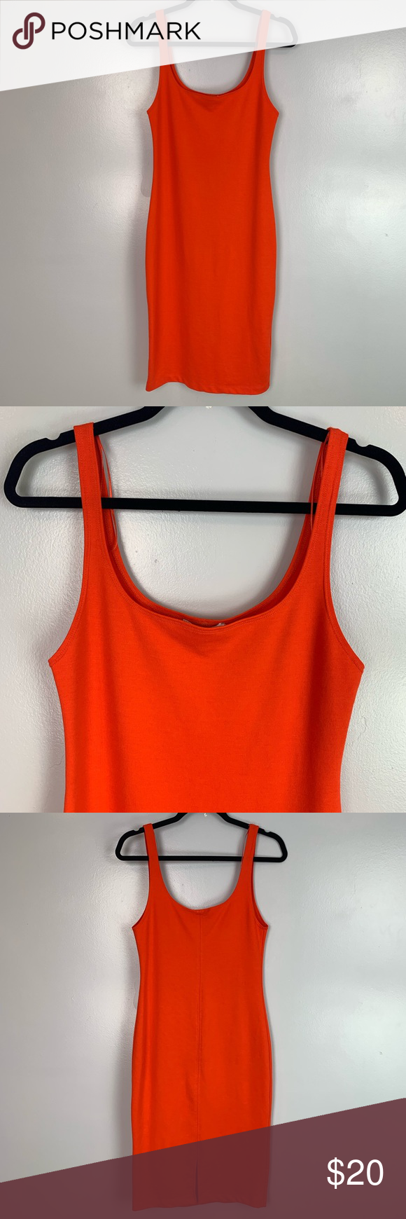 0c8d8d7883b4 Zara Trafaluc sleeveless bodycon dress Zara Trafaluc Women s Bodycon Dress  Orange Sleeveless Size US L Type