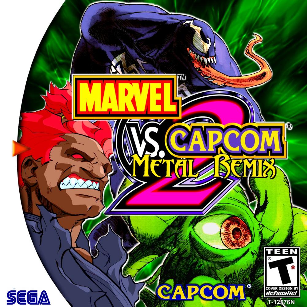 Marvel Vs Capcom 2 Metal Remix Custom Sega Dreamcast Game Marvel