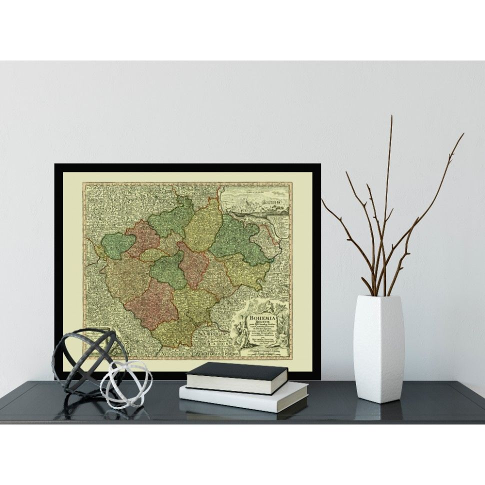 Historical Map Of Bohemia Map Antiquemap Vintagemap Oldmap - Buy historical maps