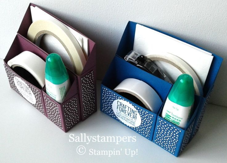 Adhesive Desk Caddy. Keep those all important adhesives together and tidy in thi…