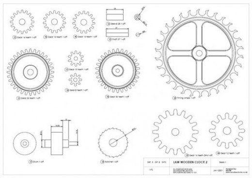 How to Make a Wooden Gear Clock Wooden clock plans Wooden gear