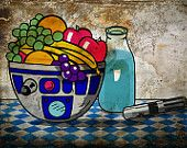 R2-D2 still life fruit bowl