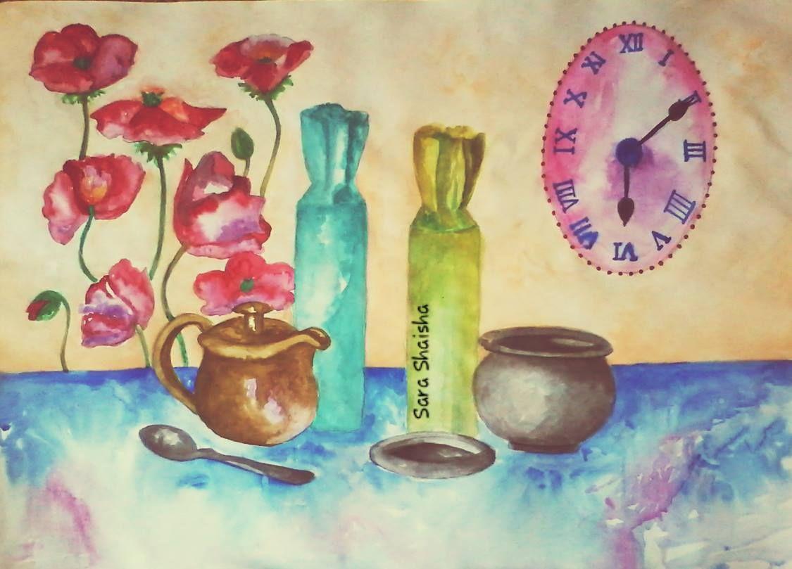 طبيعة صامتة رسم سارة شعيشع Painting Art