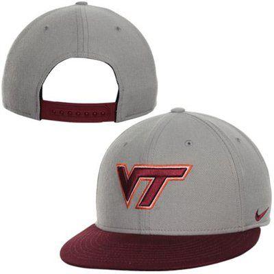 5d9e98f0926 Nike Virginia Tech Hokies Team Issue True Snapback Hat - Gray Maroon ...