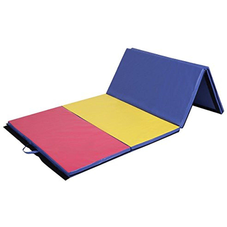 Giantex Thick 4 X10 X2 Folding Panel Gymnastics Mat Yoga