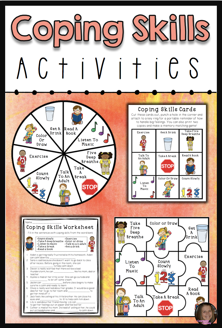 Coping Skills Activities Counseling And Therapy Tpt Products Group