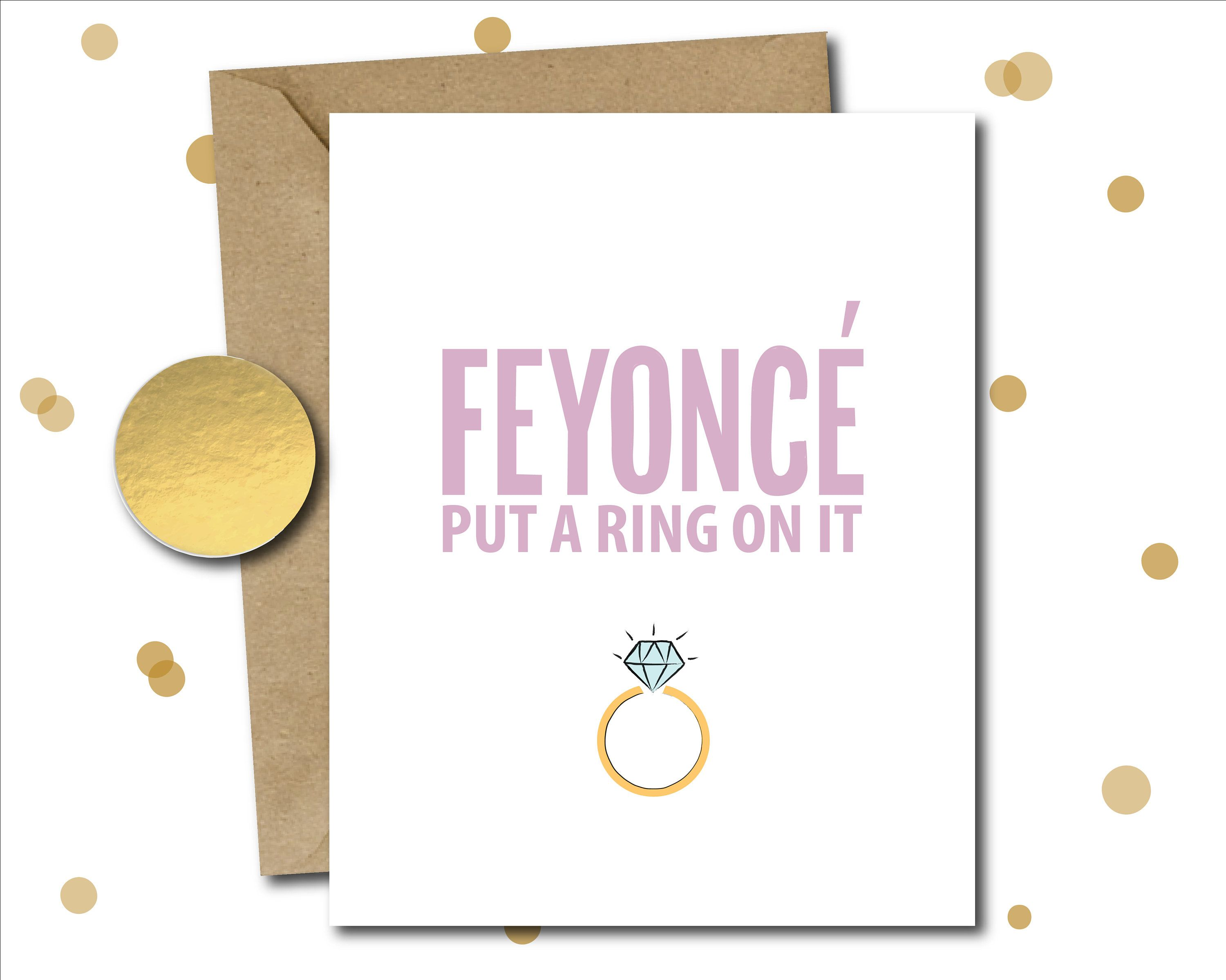 beyonce wedding shower card funny bridal shower card beyonce engagement gift funny wedding