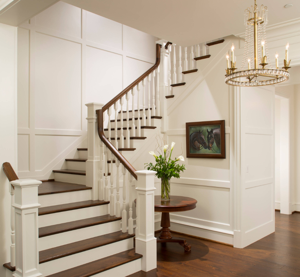 Elegant Foyer Stair Wraps A Paneled Two Story Entry Hall: Pin By Marta Deptula_Arminco_Inc On VOLOSOV RESIDENTIAL