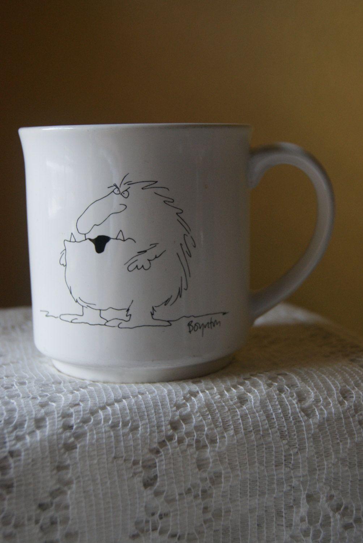 Vintage Boynton Coffee Mug, No More Mr. Nice Guy, Grumpy, Curmudgeon, Fun Gift, Gift for Him, Ceramic, Kitschy, Cute by BrindleDogVintage on Etsy