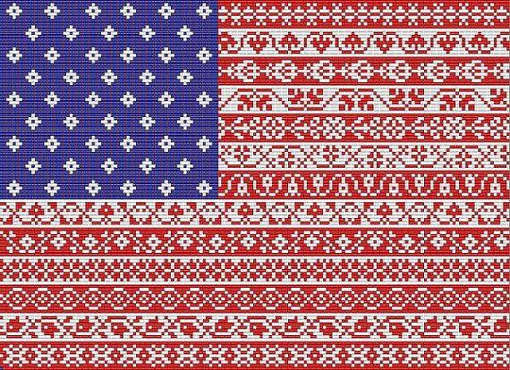 American Star Cross Stitch Chart