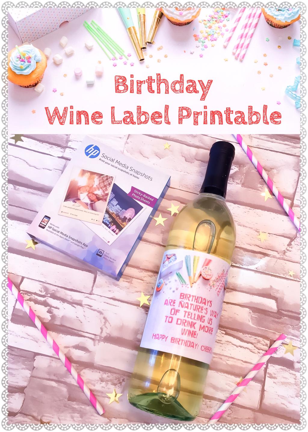 Birthday Wine Label Printable Wine Label Printable Birthday Wine Label Birthday Wine Labels Printable