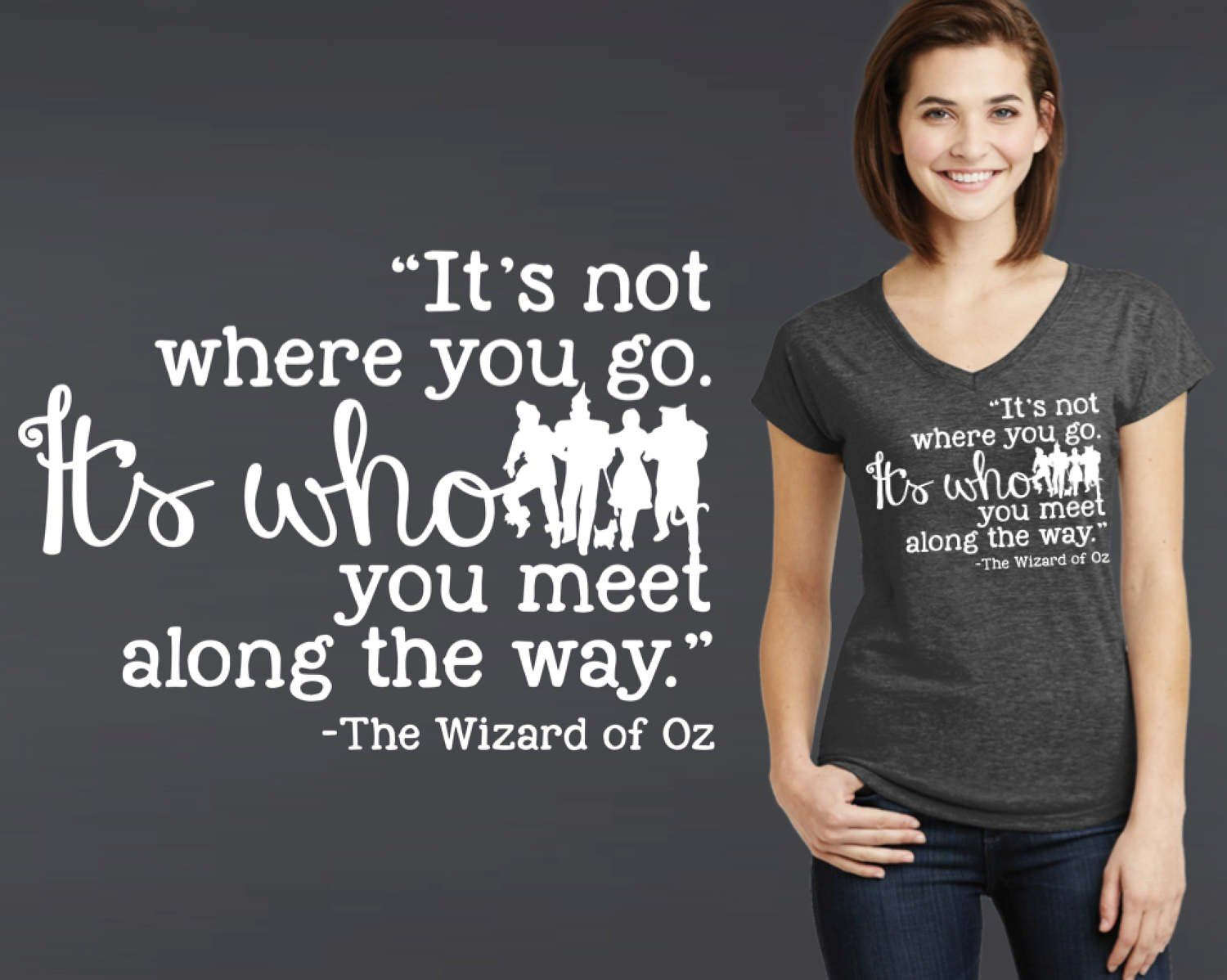 It's Who You Meet Along the Way T-shirt | Wizard of Oz