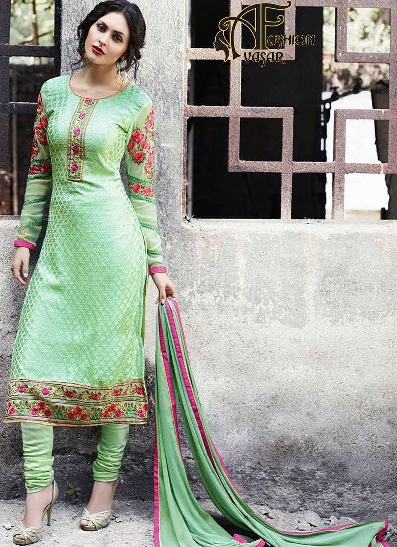 straight salwar suit design. straight salwar kameez designs ...