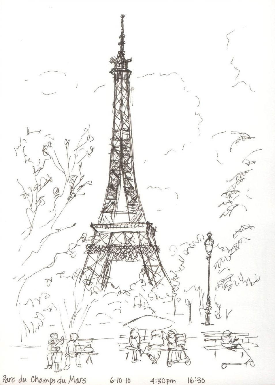 Paris sketch black and white draw2c in 2019 paris