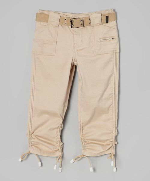 Fashionable Toddler Girls Capri Cargo Pants