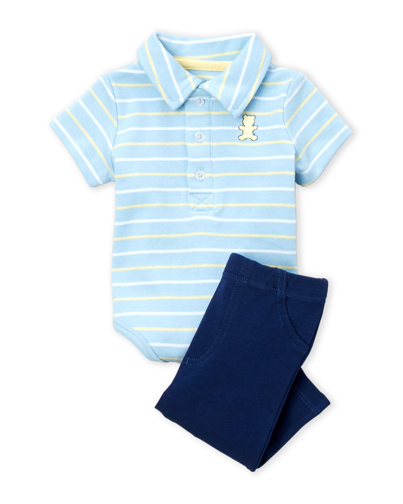Little Me (Newborn/Infant Boys) Two-Piece Stripe Bodysuit & Pants Set
