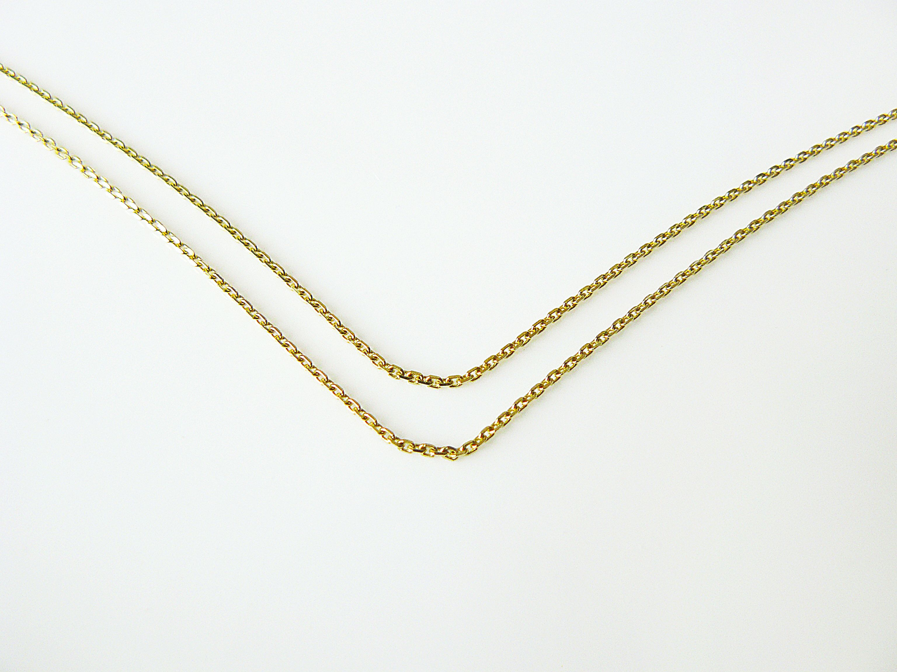 yellow wide inches in chain l and gold chains figaro