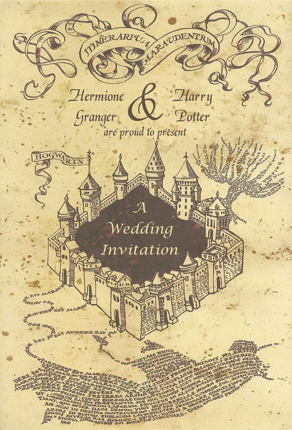 picture about Harry Potter Marauders Map Printable named Customized Printable Marauders Map Harry Potter Wedding day