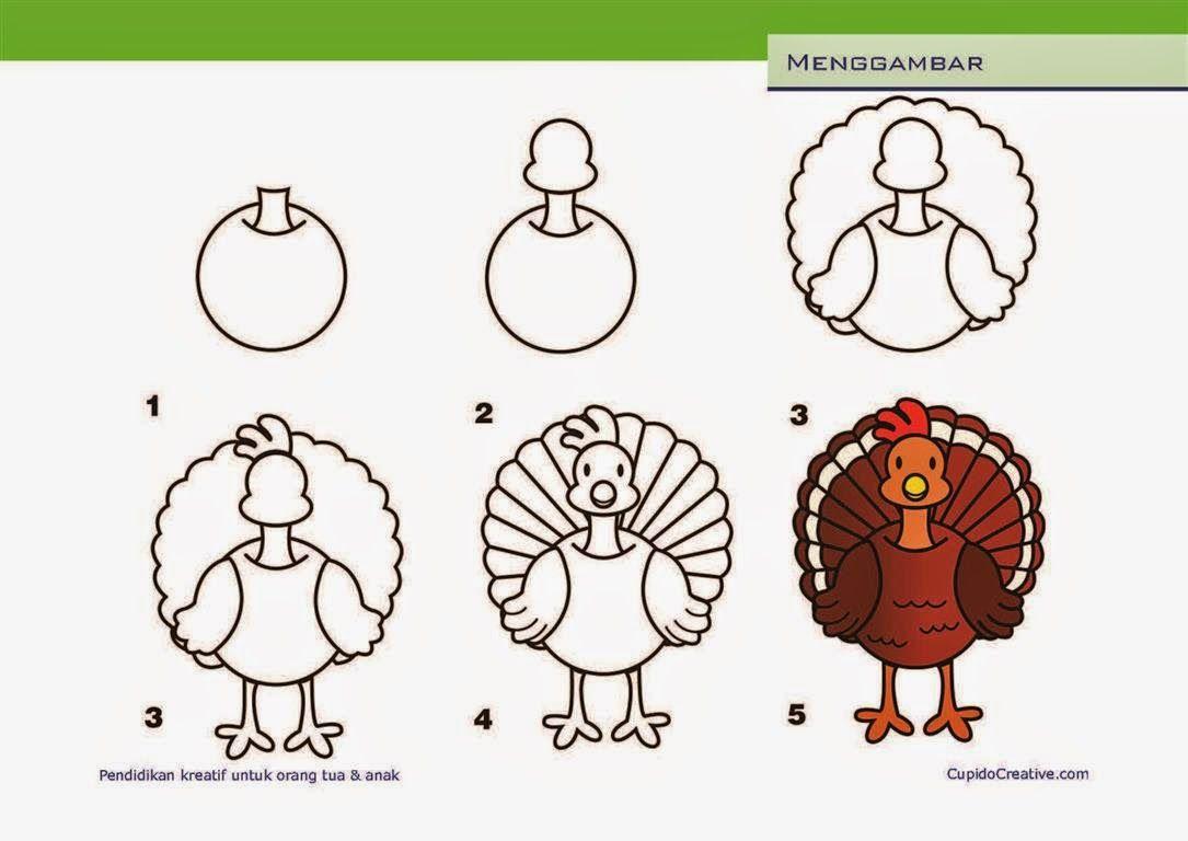 Kerajinan Anak SD Paud Cara Langkah Menggambar Anak Ayam