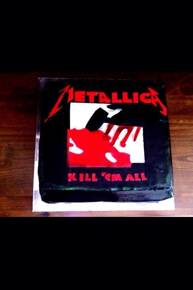 Metallica Quot Kill Em All Quot Album Cover Birthday Cake