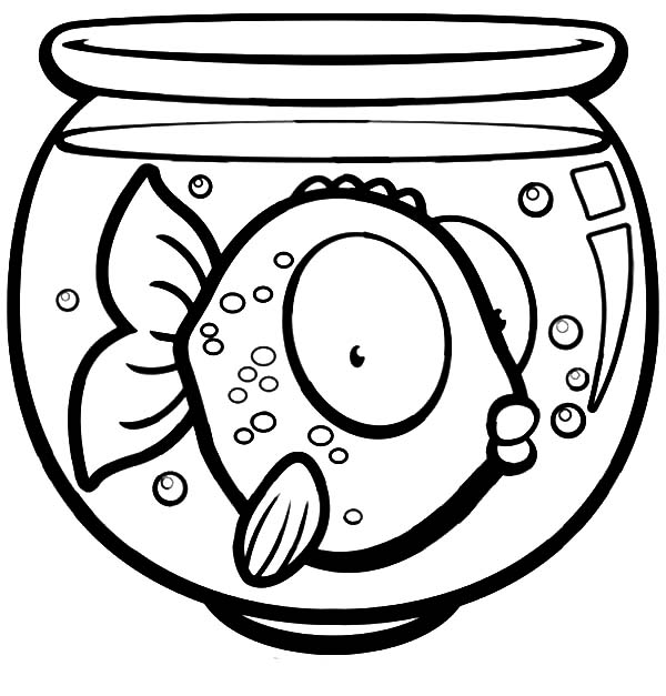 Big Eyed Fish In Fish Bowl Coloring Page Download Print Online Coloring Pages For Free Color Nimb Coloring Pages Fish Coloring Page Online Coloring Pages