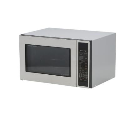 Sharp 1.5 cu. ft. Countertop Convection Microwave in Stainless Steel - R930CS - The Home Depot