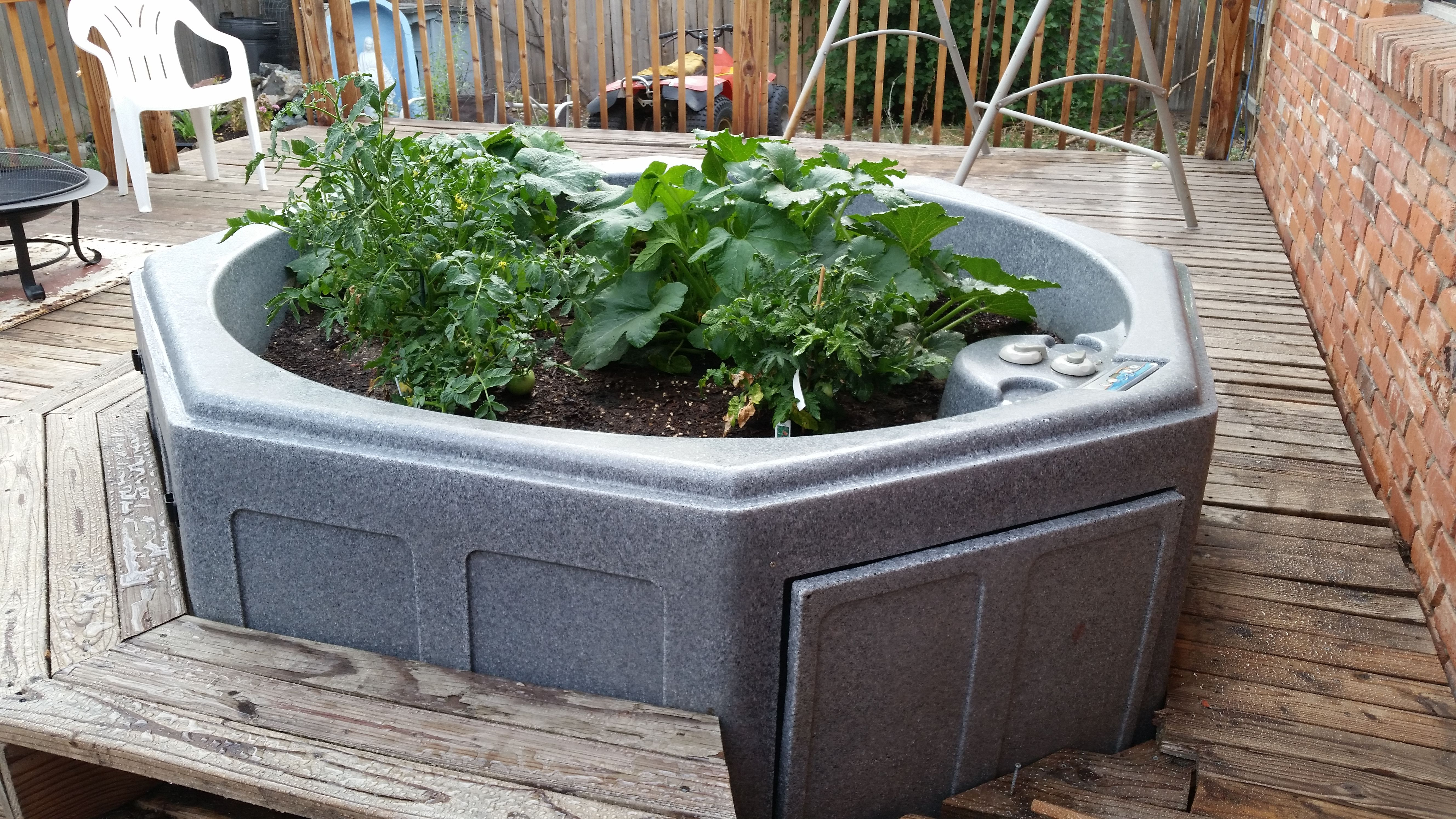 Repurposed Hot Tub Rather Than Put The Extensive Money Into