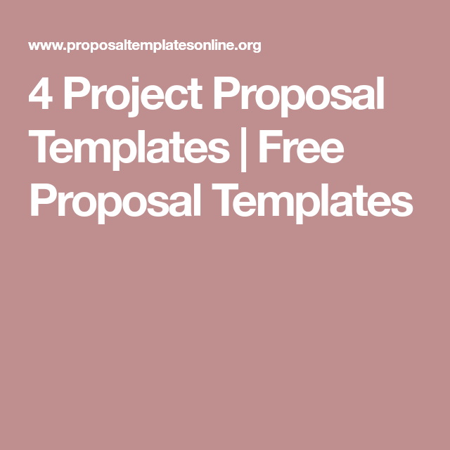 Project Proposal Templates  Free Proposal Templates  Proposal