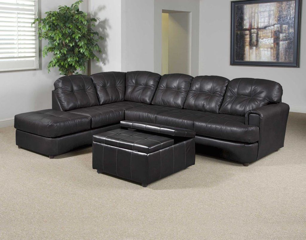 Eastern Charcoal Bonded Leather Sectional By Serta Upholstery My Furniture Place Sectional Sofa Sectional Couch Chelsea Home Furniture
