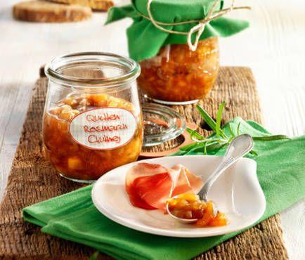 Quitten-Rosmarin-Chutney Recipe Chutney, Pesto and Dips