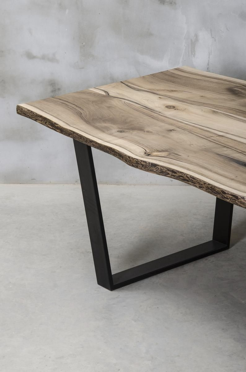 Live Edge Dining Table Walnut Table Slabs Table Wooden Table