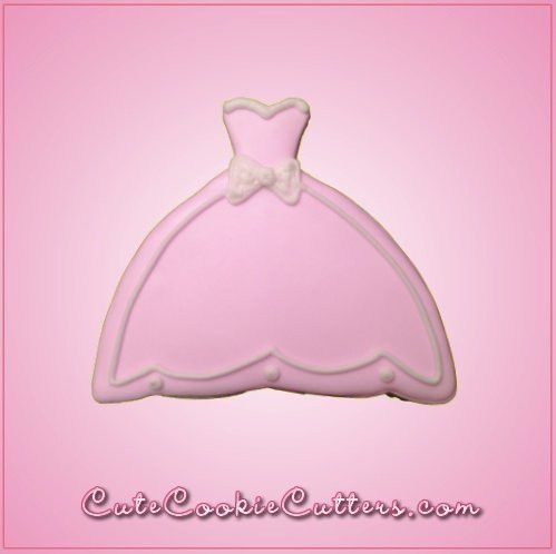 Ball Gown Dress Cookie Cutter | Ball gown dresses, Cookie cutters ...