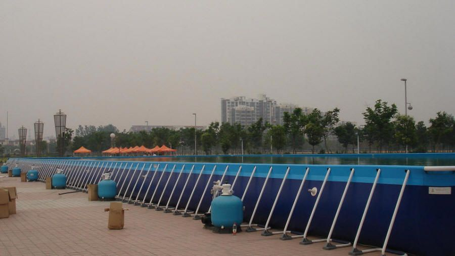 Huge pools how big is an olympic swimming pool above for Above ground pools for sale