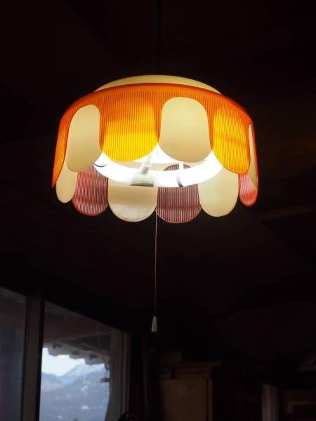 昭和の懐かしい 吊り下げ照明 レトロポップ 4 オレンジ ヤフオク