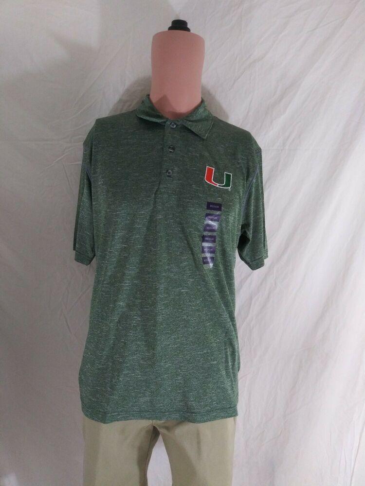 University Of Miami Hurricanes Men S Size 2xl Football Polo Shirt Ebay In 2020 University Of Miami Hurricanes Football Polos Miami Hurricanes