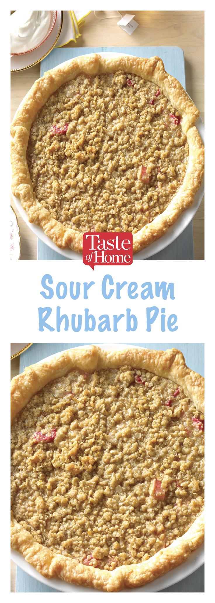 Sour Cream Rhubarb Pie Recipe Sour Cream Recipes Rhubarb Recipes Pie Rhubarb Recipes
