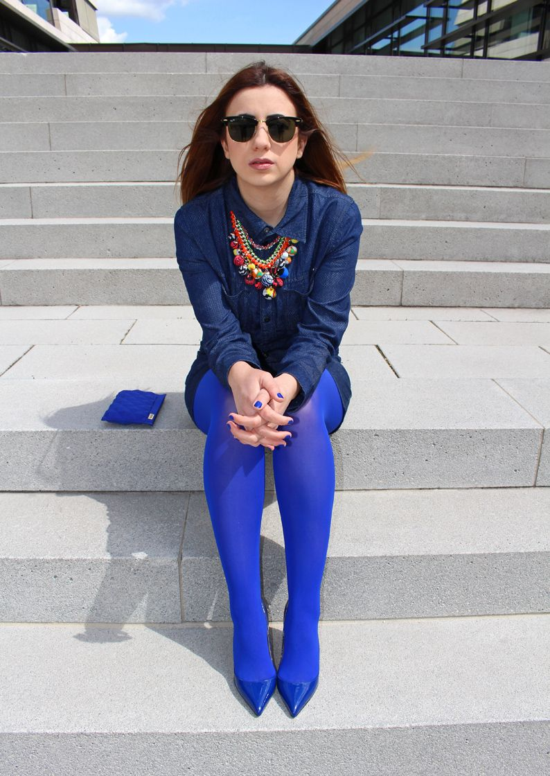 marvellous outfits with blue leggings dress