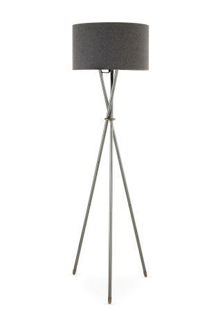 Buy Chrome Tripod Floor Lamp from the Next UK online shop | Lights ...