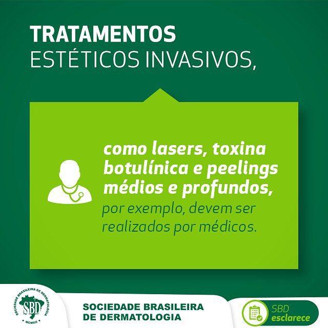 """SBD esclarece que o CFM não reconhece a denominação """"dermaticista"""" (parecer nº5/2015) #defensoresdapele #dermatologistaSBD #SBDdermatologia"""