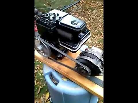 2hp briggs stratton engine alternator 12 volt dc generator