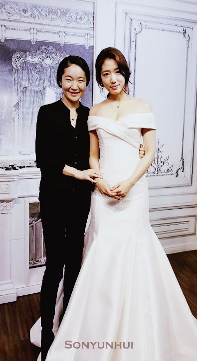 Park Shin Hye Wearing Wedding Dress From Drama Pinocchio