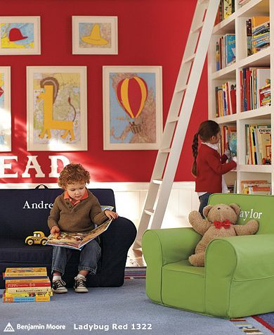 If we ever turn the office/toy room/library into a dedicated kids space, this would be it.