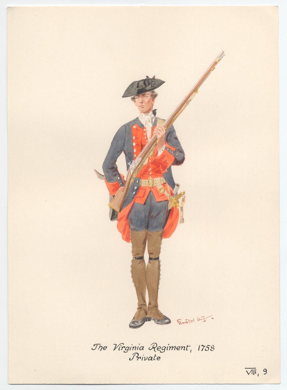 The Virginia Regiment 1758 Private American War Of