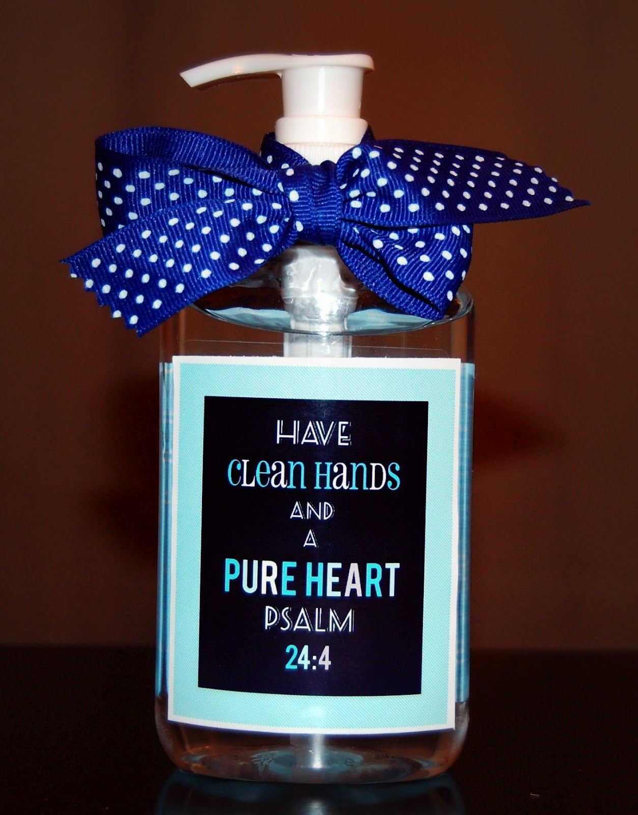 Re label clean hands and a pure heart ps 244 printable in pink christ centered easter basket clean hands and a pure heart hand sanitizer soap printable negle Image collections