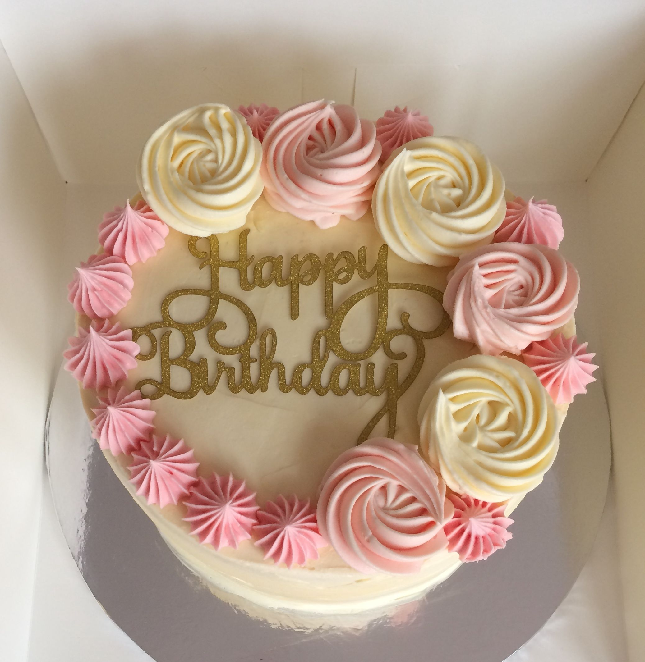 Swirls Birthday Cake Buttercream Birthday Cake Simple Cake Designs Birthday Cake Decorating