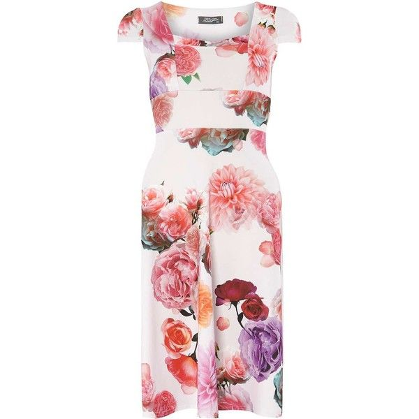 Dorothy Perkins **Fever Fish Pink Flower Print Dress (92 AUD ...