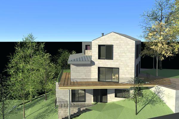 Etonnant Maison En Pente Forte Miclot Naturarch   Lzzy.Co