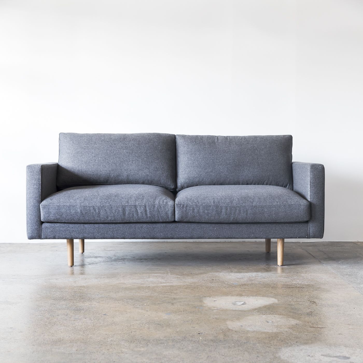 The Charlie Sofa From Our Staple Co Collection Made To Order In Sydney Feltsofa Scandi Livingroom Fabricl Fabric Sofa Tan Leather Sofas Sofa