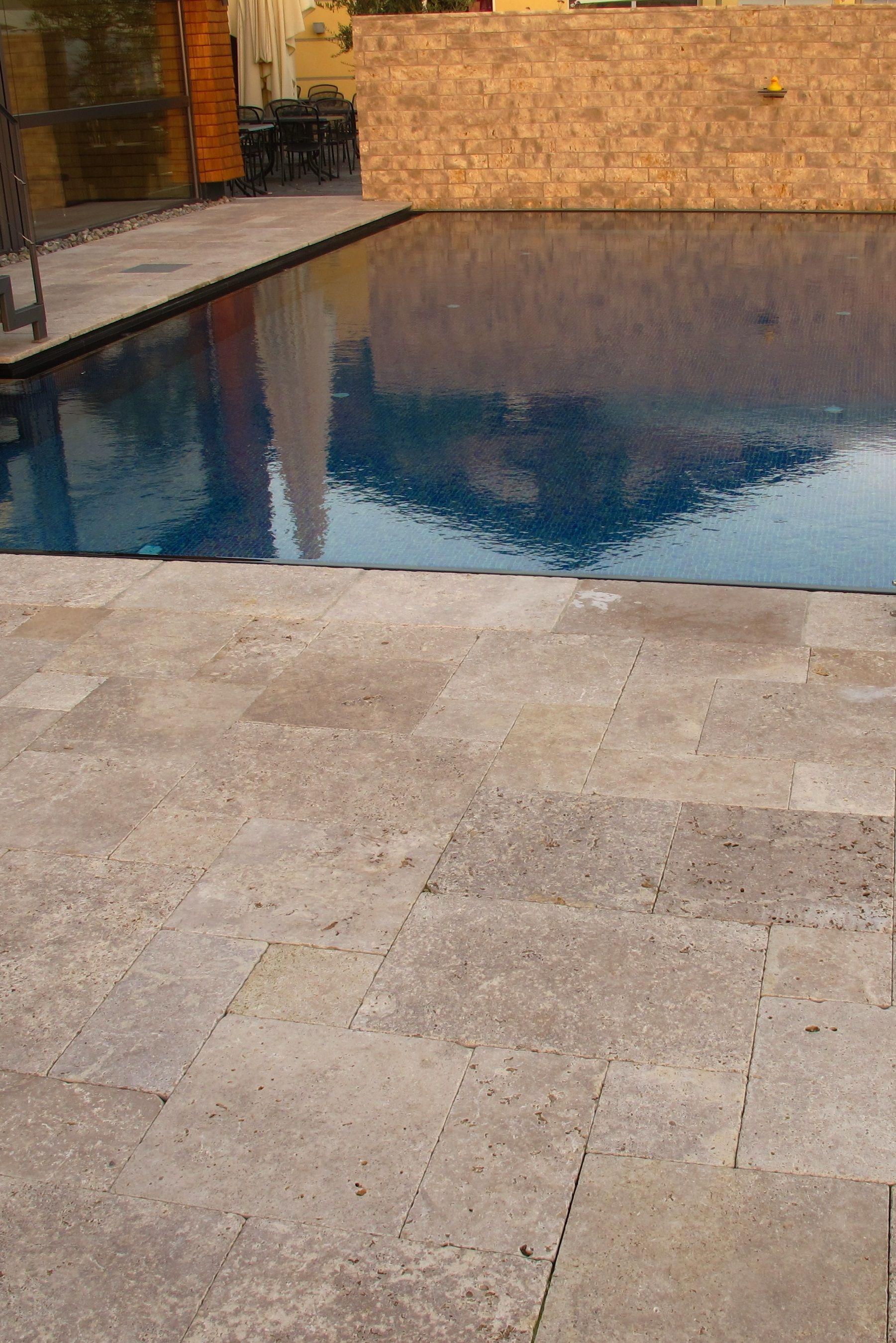 Travertin Noce Terrassenplatten Wohnrausch Travertin Natursteine